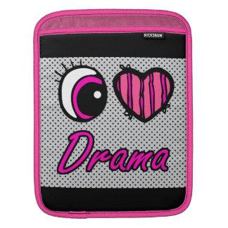 Emo Eye Heart I Love Drama iPad Sleeve