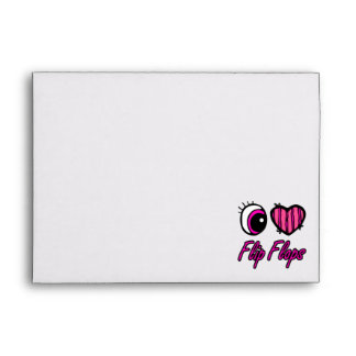 Emo Eye Heart I Love Flip Flops Envelopes