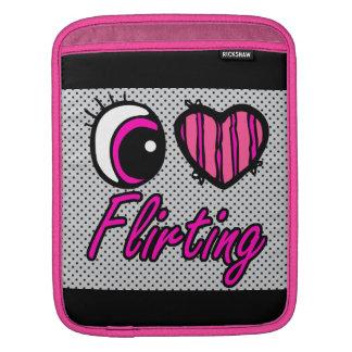 Emo Eye Heart I Love Flirting iPad Sleeve