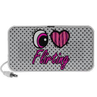 Emo Eye Heart I Love Flirting Laptop Speaker