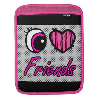 Emo Eye Heart I Love Friends Sleeve For iPads