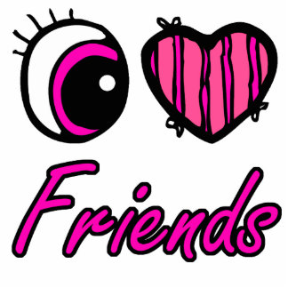 Emo Eye Heart I Love Friends Photo Sculpture