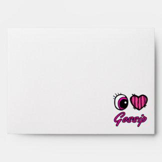 Emo Eye Heart I Love Gossip Envelopes