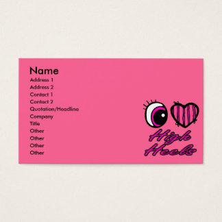 Emo Eye Heart I Love High Heels Business Card