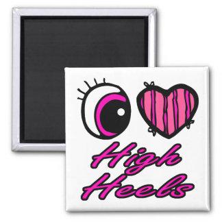 Emo Eye Heart I Love High Heels Magnets