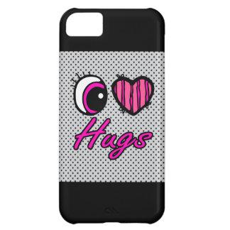 Emo Eye Heart I Love Hugs Cover For iPhone 5C