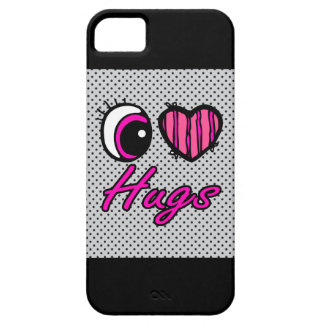 Emo Eye Heart I Love Hugs iPhone SE/5/5s Case