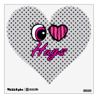 Emo Eye Heart I Love Hugs Room Stickers