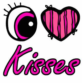 Emo Eye Heart I Love Kisses Photo Cutout