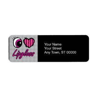 Emo Eye Heart I Love Lipgloss Label