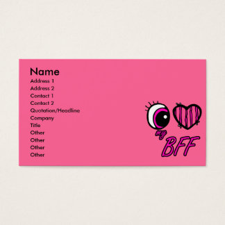 Emo Eye Heart I Love my BFF Best Friend Forever Business Card
