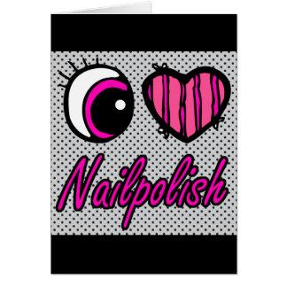 Emo Eye Heart I Love Nail polish Card