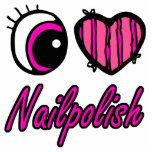 Emo Eye Heart I Love Nail polish Photo Cutout