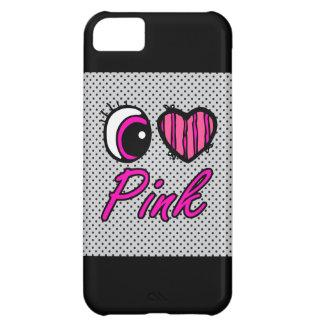 Emo Eye Heart I Love Pink iPhone 5C Cover