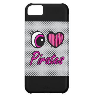 Emo Eye Heart I Love Pirates Cover For iPhone 5C