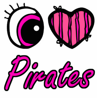 Emo Eye Heart I Love Pirates Cut Out