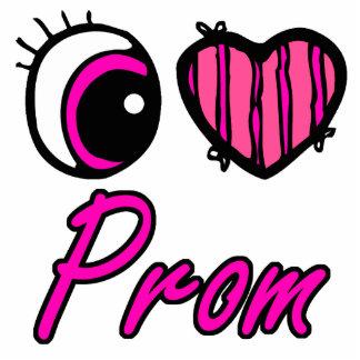 Emo Eye Heart I Love Prom Acrylic Cut Out