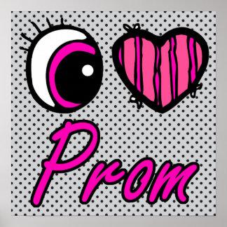 Emo Eye Heart I Love Prom Poster