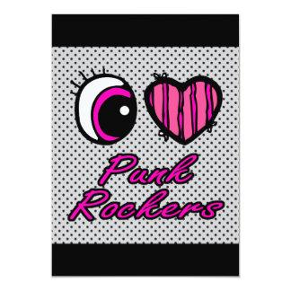 Emo Eye Heart I Love Punk Rockers Card