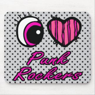 Emo Eye Heart I Love Punk Rockers Mouse Pad
