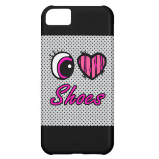 Emo Eye Heart I Love Shoes iPhone 5C Cover
