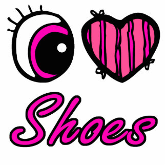 Emo Eye Heart I Love Shoes Photo Cut Out