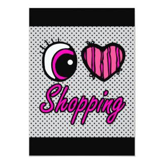 Emo Eye Heart I Love Shopping Card