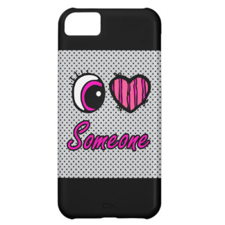 Emo Eye Heart I Love Someone Cover For iPhone 5C