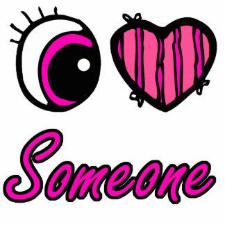 Emo Eye Heart I Love Someone Cut Out