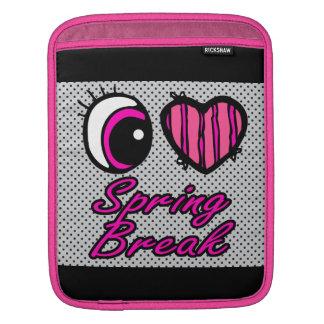 Emo Eye Heart I Love Spring Break iPad Sleeve