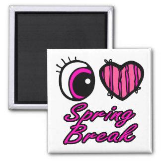Emo Eye Heart I Love Spring Break Fridge Magnet