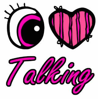 Emo Eye Heart I Love Talking Cut Outs