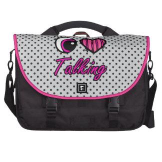 Emo Eye Heart I Love Talking Laptop Bag
