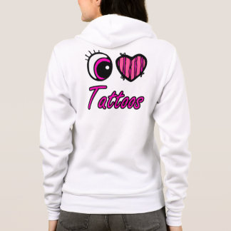 Emo Eye Heart I Love Tattoos Hoodie