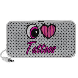 Emo Eye Heart I Love Tattoos Notebook Speakers
