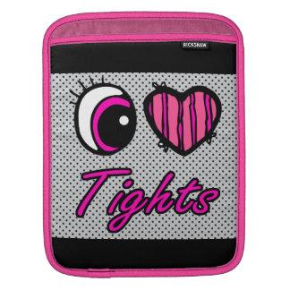 Emo Eye Heart I Love Tights iPad Sleeves