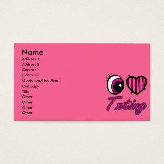 Emo Eye Heart I Love Txting Business Card