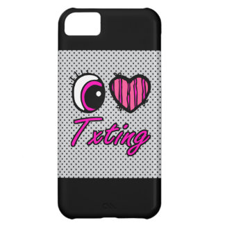Emo Eye Heart I Love Txting Case For iPhone 5C