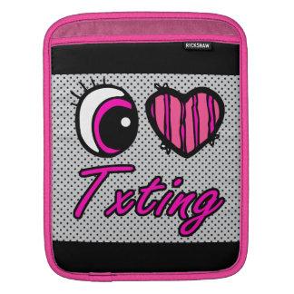 Emo Eye Heart I Love Txting Sleeves For iPads