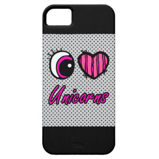 Emo Eye Heart I Love Unicorns iPhone SE/5/5s Case