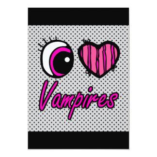 Emo Eye Heart I Love Vampires Card