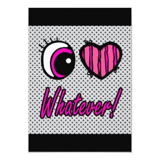 Emo Eye Heart I Love Whatever Card