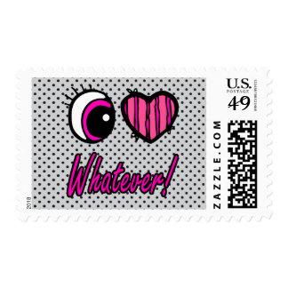 Emo Eye Heart I Love Whatever Stamps