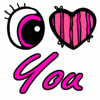 Emo Eye Heart I Love you Acrylic Cut Out