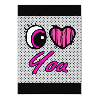 Emo Eye Heart I Love you Card