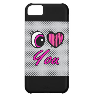Emo Eye Heart I Love you Cover For iPhone 5C