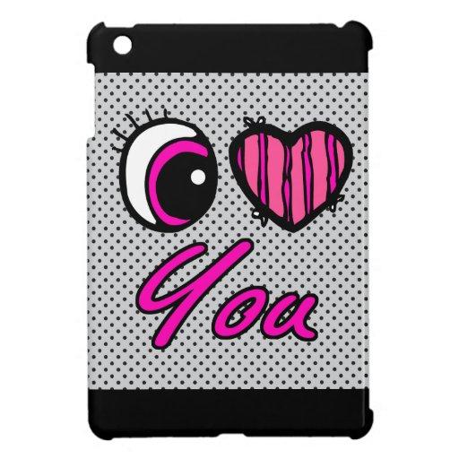 Emo Eye Heart I Love you iPad Mini Case