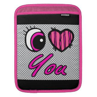 Emo Eye Heart I Love you iPad Sleeves