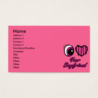 Emo Eye Heart I Love Your Boyfriend Business Card