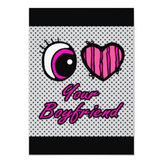 Emo Eye Heart I Love Your Boyfriend Card
